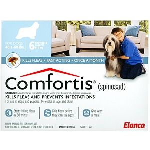 Buy Comfortis (Blue, 810mg (40-60lbs) 6pack) Online, rx medicine for dogs